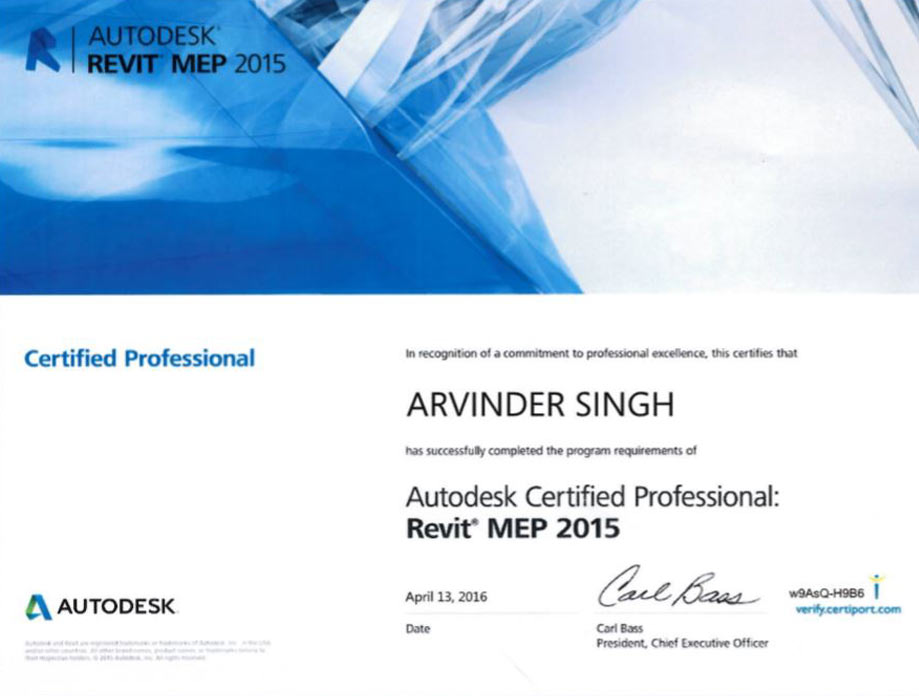 Autodesk Certified for Revit MEP