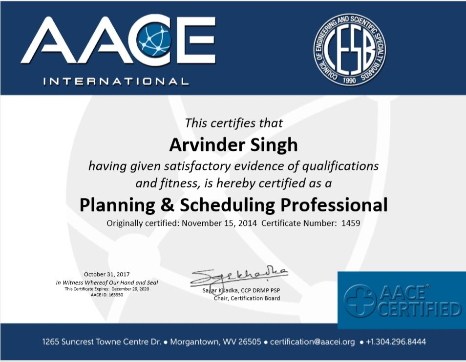 Planning & Scheduling Professional